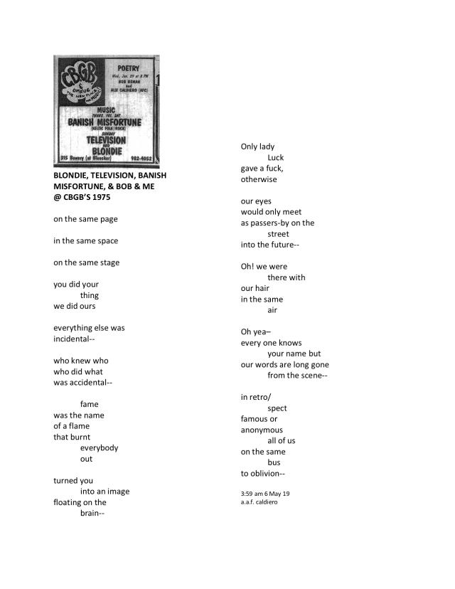 poem_BOB & ME @ CBGB